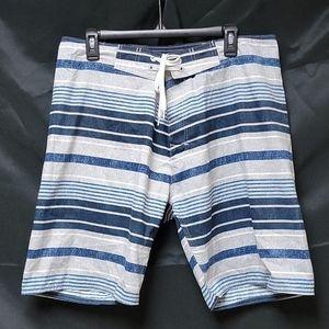 OLD NAVY BLUE/WHITE STRIPED BOARD SHORTS
